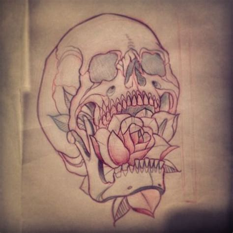 traditional skull tattoo neo traditional sketch buscar con skull