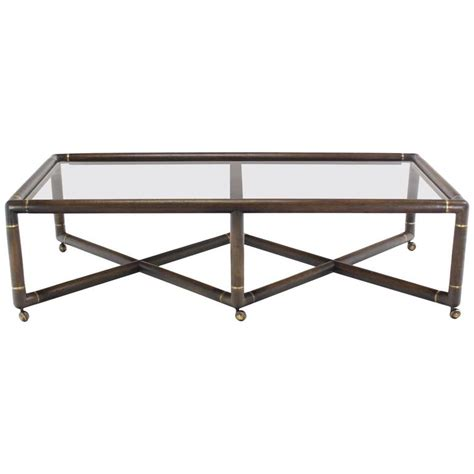 x base glass top rectangular coffee table on wheels