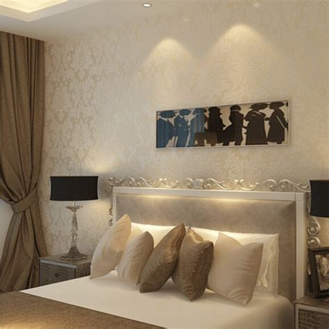 Metallic Bedroom Wallpaper by Aliexpress Buy Non Woven Metallic Wallpaper Modern