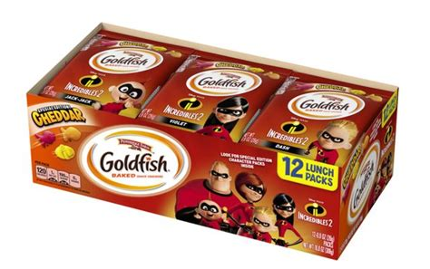 animation inspired snack crackers incredibles  goldfish
