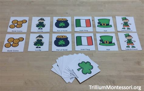 montessori printable st game a st patrick s day theme trillium montessori