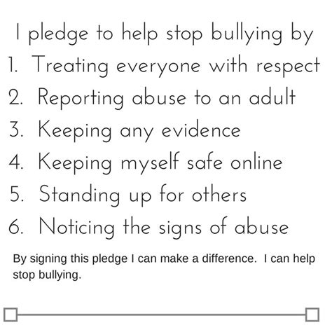 ten tips to prevent cyberbullying the anti bully blog quot i pledge to help stop bullying quot printable pledge october