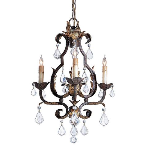 Tuscan Elegant Swarovski Crystal 3 Light Chandelier For Chandeliers