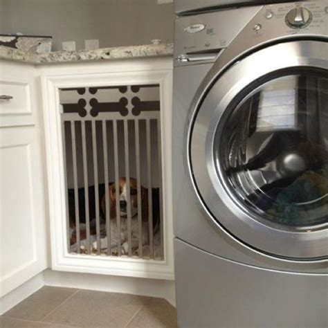 built in laundry laundry room with built in kennel