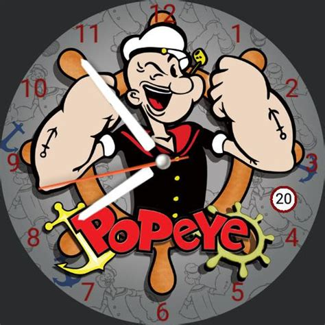 popeye the sailor analgue watchfaces for