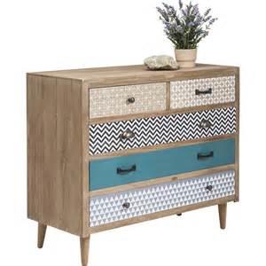 commode en bois aux cinq tiroirs d 233 pareill 233 s
