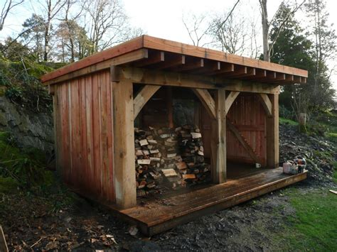 oak frame timber garden shed landscape gardeners cumbria