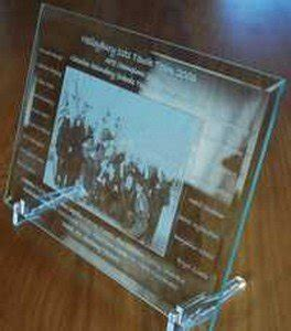 Glass Photo Frame With Photo Etched Into Glass 200 X 275 Mm