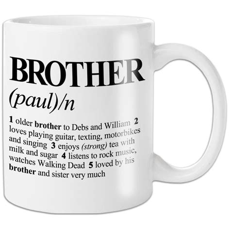 Personalised Brother Definition Mug   Find Me A Gift