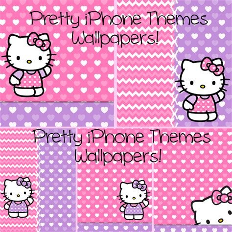 theme hello kitty iphone 6 pretty iphone themes i heart kitty iphone theme