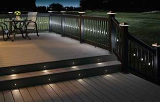 Patio Led Lighting Amazing Look Deck Light With Beautiful Rail Lights And Post Lights Also With Step Lights Jpg