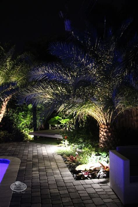 Miami Landscape Lighting Outdoor Lighting Tropical Landscape Miami By Broward Landscape Inc