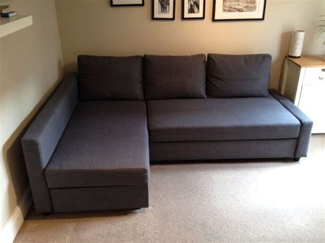 Ikea Friheten Sofa Bed soft fabric ikea friheten sofa bed in gray color with