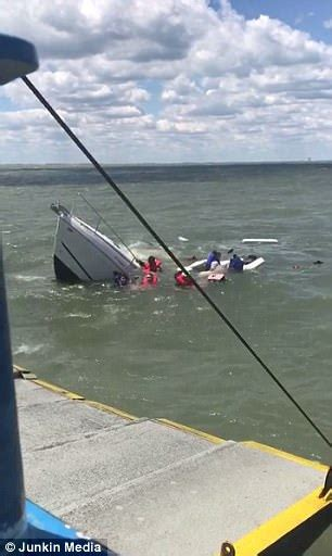 sinking boat on lake erie boat sinks as passengers are sent swimming in lake erie