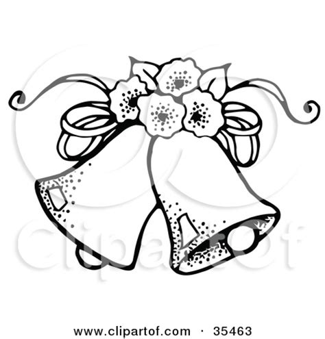 Wedding Bell Drawing by Flower Bells Clipart Clipground
