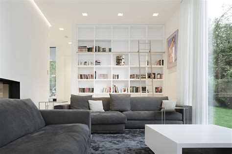 house m by monovolume architecture design grey sofas living space house m in meran italy by