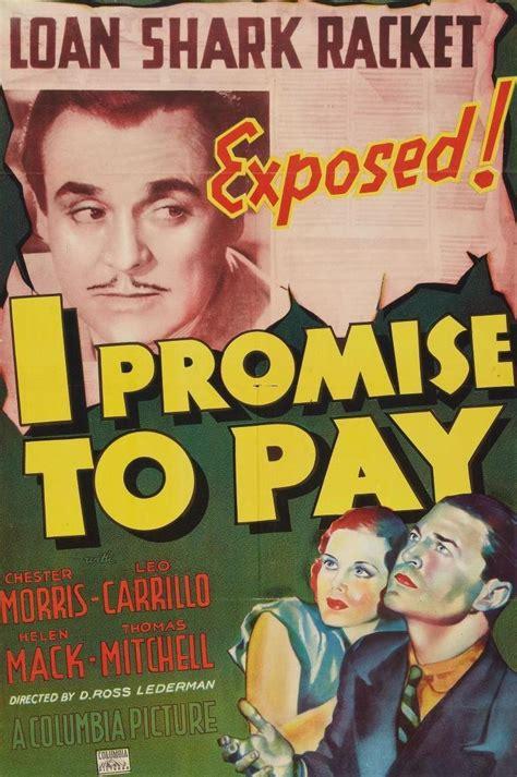 film i promise i promise to pay 1937 filmaffinity