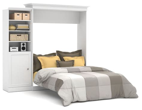 wall bed queen versatile white 92 door storage queen wall bed from bestar 40882 17 coleman