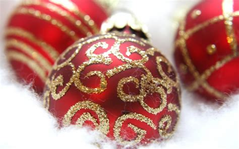 fancy red ornaments 1280x800 wallpaper