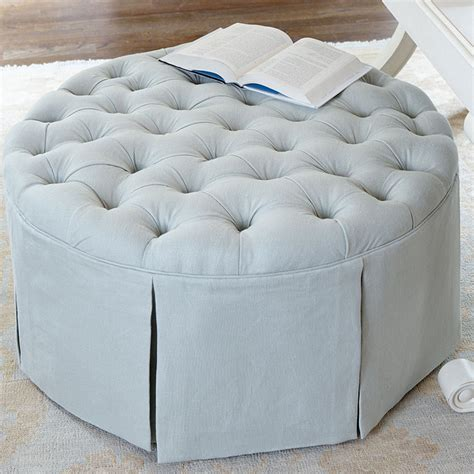 round tufted skirted ottoman bryn alexandra friday find