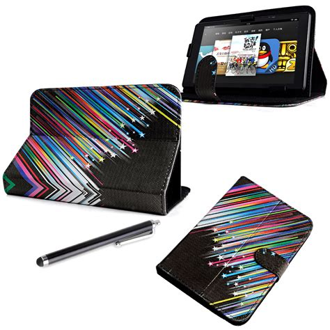 Leather Universal 7inch universal 7 quot inch pu leather wallet cover stand folio for android tablet pc ebay