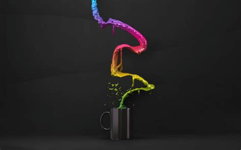 coffee cup color splash wallpaper hd   abstract