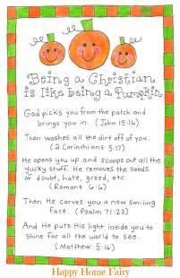 being a christian is like being a pumpkin free printable