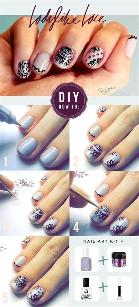 nail art lace tutorial 16 creative diy nail ideas