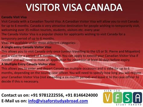 canada tourist visa requirements