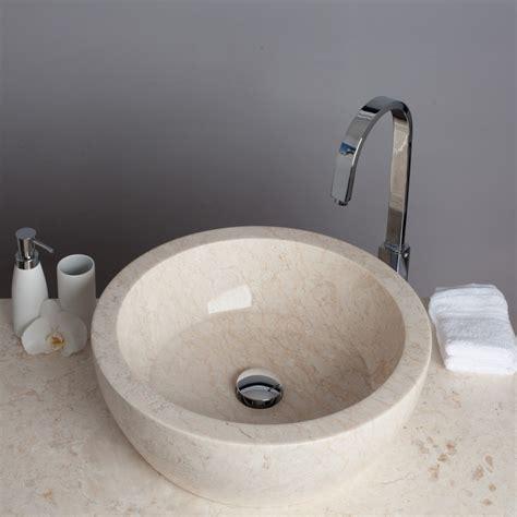 waschbecken marmor marmor waschbecken tuwong rund 45cm creme