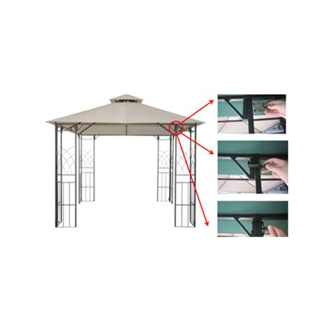 easy gazebo kensington easy clip 3m x 3m gazebo