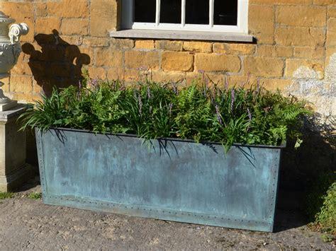 the rectangular copper garden planter medium narrow