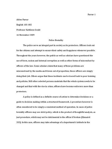 Brutality Essay by Brutality Essay Brutality