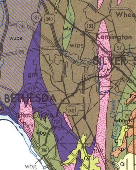 maryland formation map geologic maps of maryland montgomery county detail 11