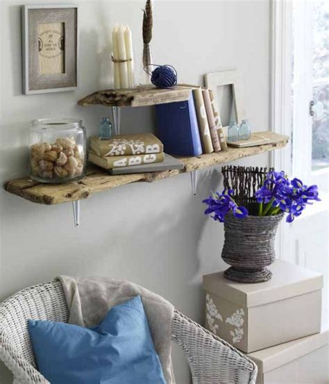 diy home decor ideas living room diy driftwood decor home living room wall shelves planks diy