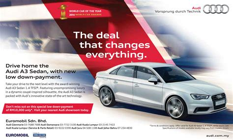 audi a3 ad ad drive home an audi a3 sedan with a special