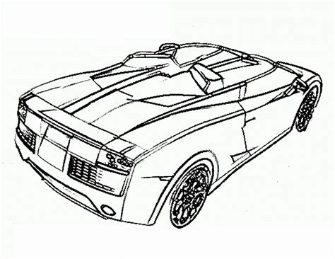 sport car free coloring pages