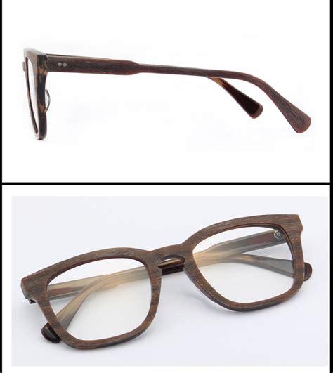 custom acetate wood eyewear glasses eyeglasses spectacle