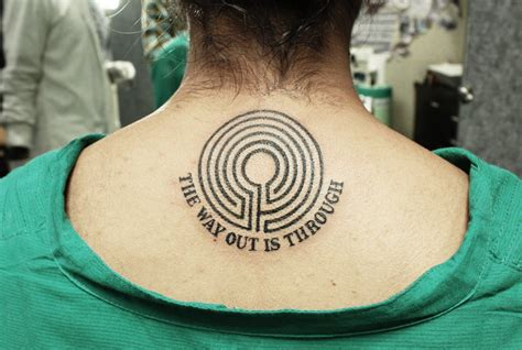 maze tattoo with quotes black poison tattoo studio