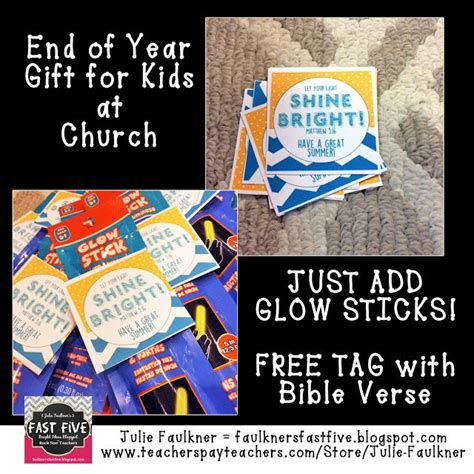 gifts for sunday school students faulkner s fast five end of year gift tag for a church glow stick gift tag with bible