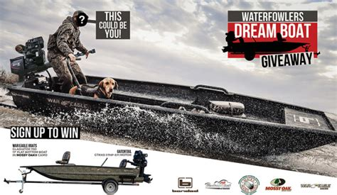 Win A Boat Sweepstakes - waterfowlers dream boat giveaway enter online sweeps howldb