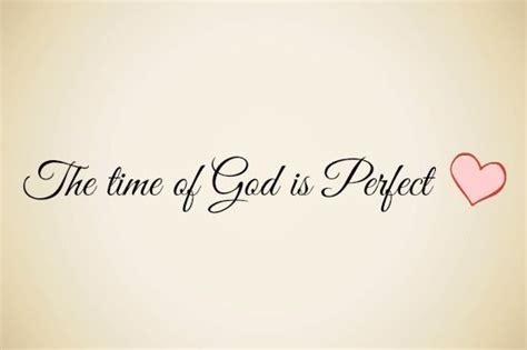 el tiempo de dios es perfecto el amor de dios