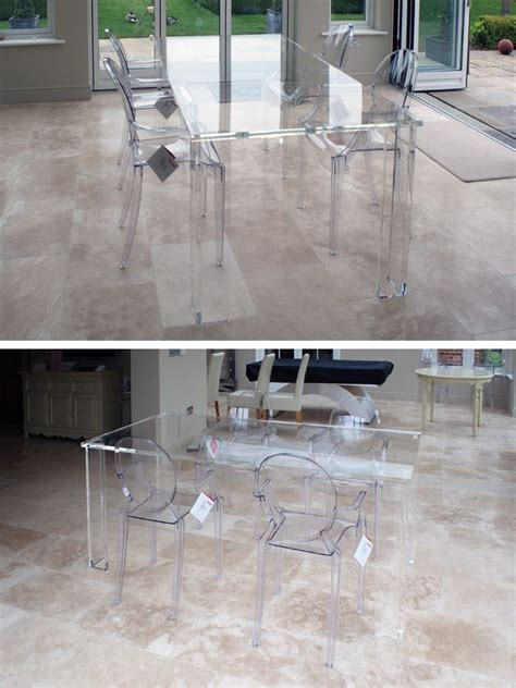 acrylic dining table base 25 best ideas about glass dining table on