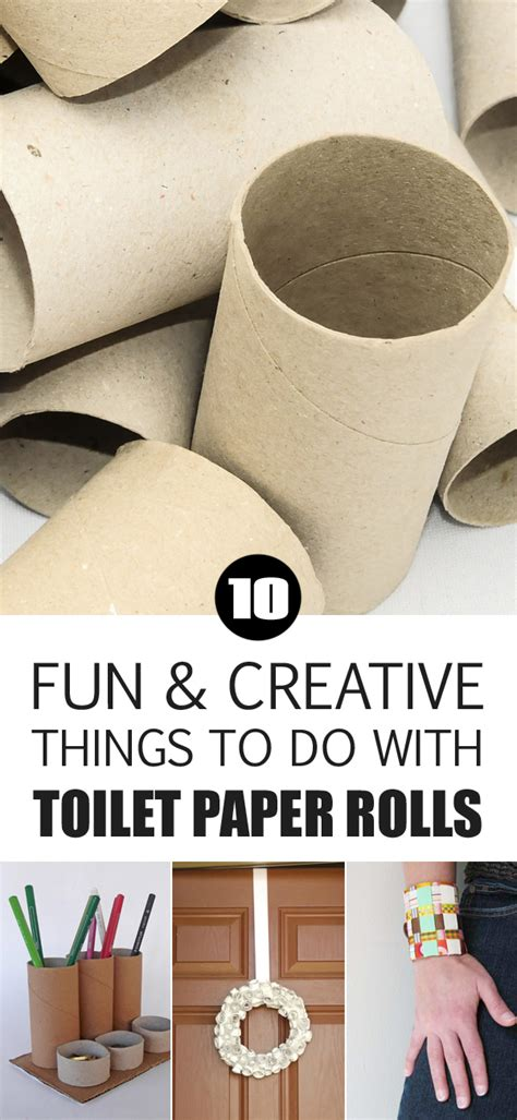Things To Make With Toilet Paper Rolls - 10 and creative things to do with toilet paper rolls