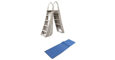 Above Ground Pool Ladder Mat - confer heavy duty a frame above ground pool ladder and