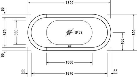 salle de bain baignoire ilot 1817 starck baignoires receveurs baignoire 700010 duravit