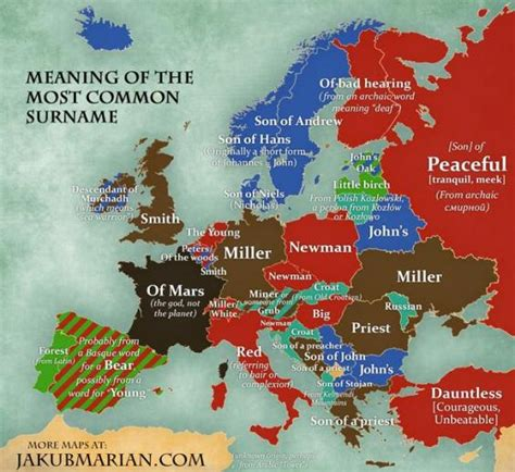 surnames of the united kingdom a concise etymological dictionary books this map shows the most common surnames in europe indy100