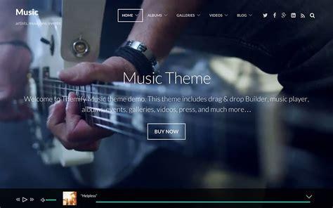 theme creator music player 45 best music wordpress themes 2018 athemes