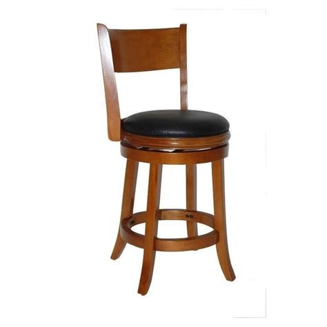 Boraam Counter Stool by Boraam Palmetto 24 Quot Swivel Bar Stool In Fruitwood