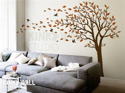 Wall Stickers For Bedroom blowing tree wall decal bedroom wall decals wall sticker